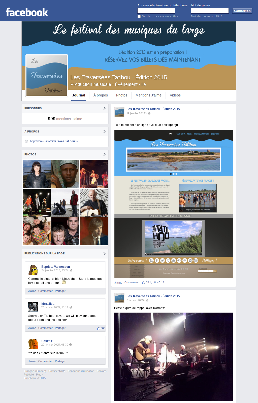 Projet 1 - Page Facebook