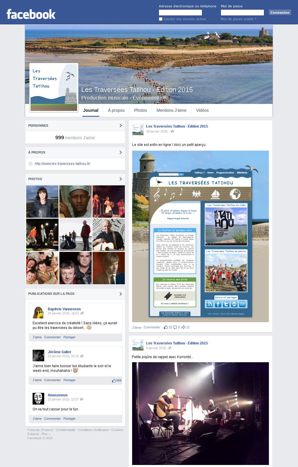 Projet 2 - Page Facebook